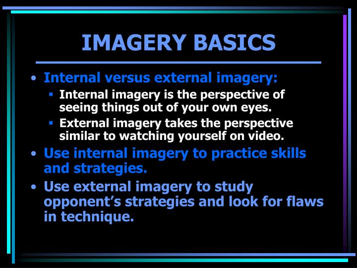 IMAGERY BASICS