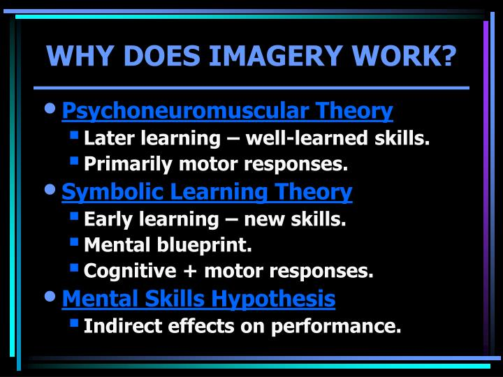 WHY DOES IMAGERY WORK?