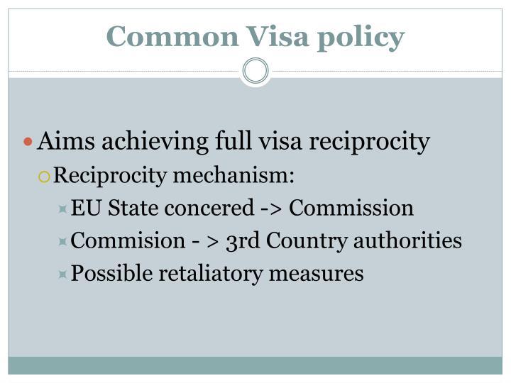 Common Visa policy