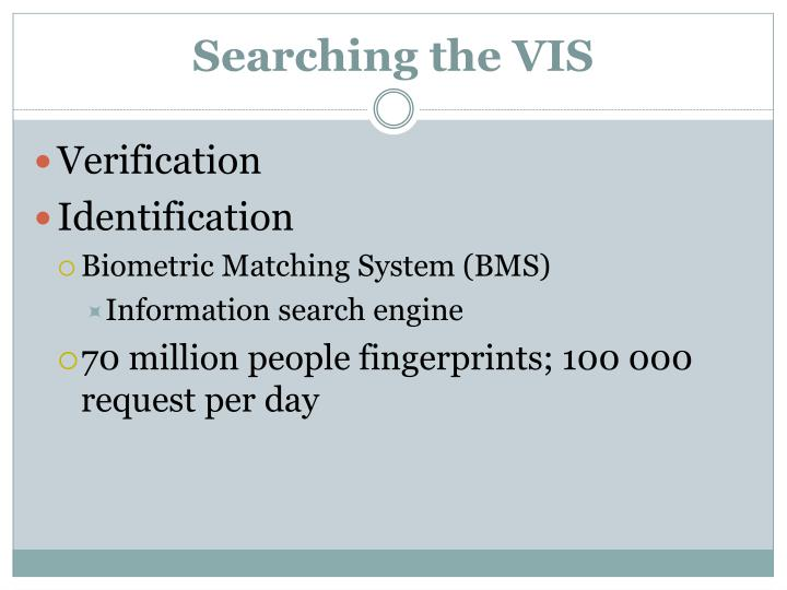 Searching the VIS