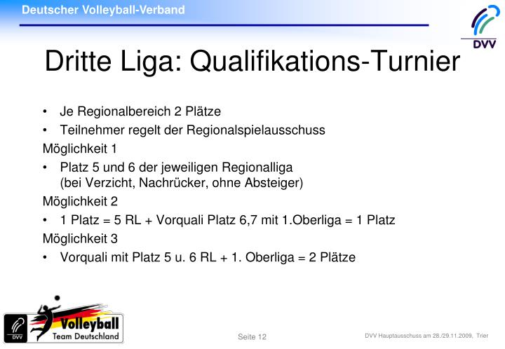 Dritte Liga: Qualifikations-Turnier