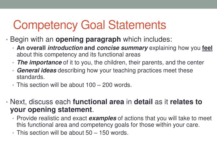 cda competency goals and functional areas program management Cda competency goals and functional areas  cda competency goal functional area definitions i  program management.