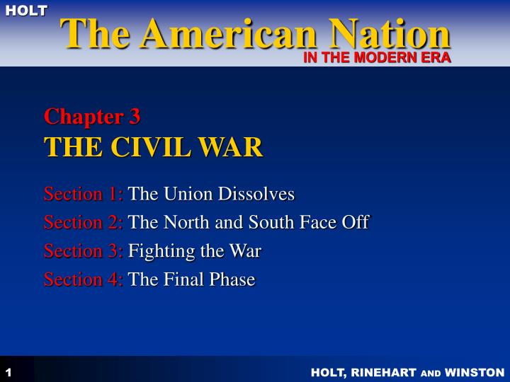 PPT - Chapter 3 THE CIVIL WAR PowerPoint Presentation - ID ...