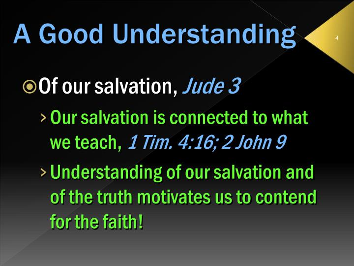 Of our salvation,
