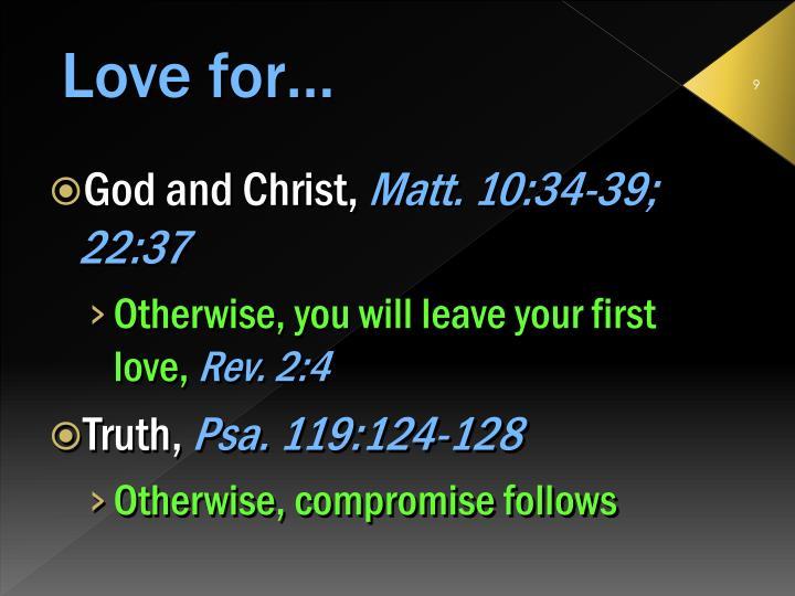 God and Christ,