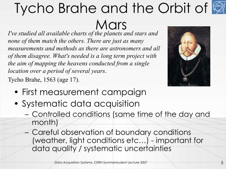 Tycho Brahe and the Orbit of Mars