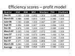 efficiency scores profit model