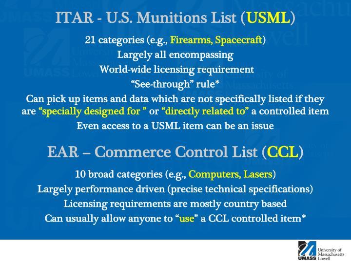 ITAR - U.S.