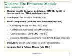 wildland fire emissions module under development