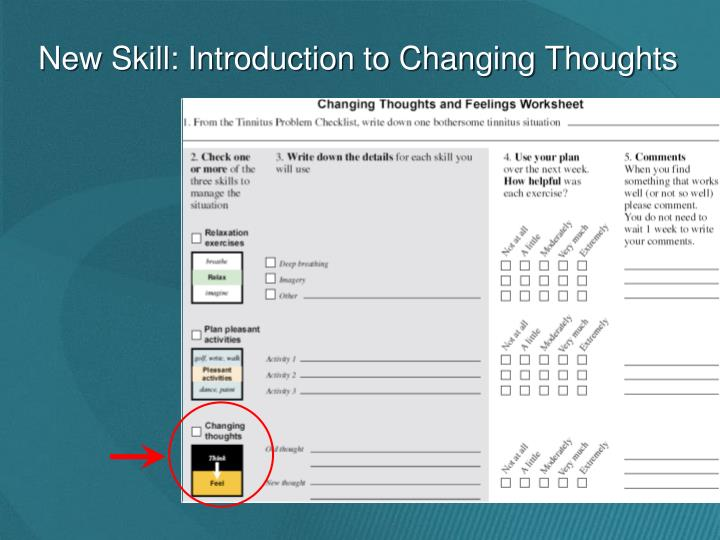New Skill: Introduction to Changing Thoughts