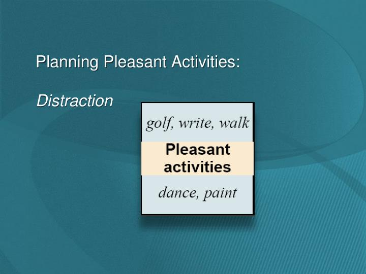 Planning Pleasant Activities: