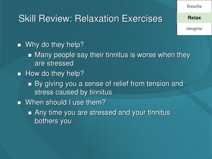 Skill Review: Relaxation Exercises