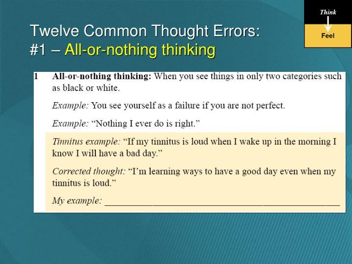 Twelve Common Thought Errors: