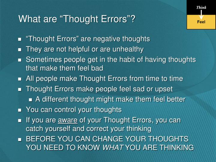 """What are """"Thought Errors""""?"""