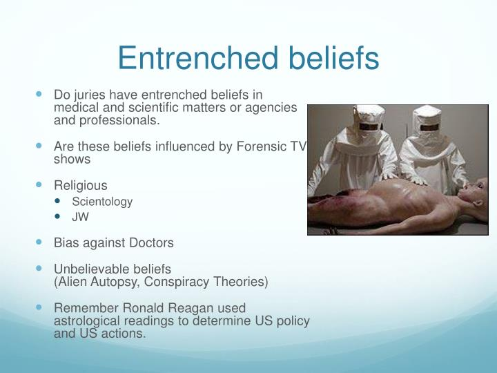 Entrenched beliefs