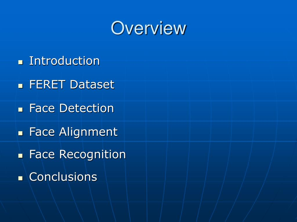 PPT - Real-Time Detection, Alignment and Recognition of