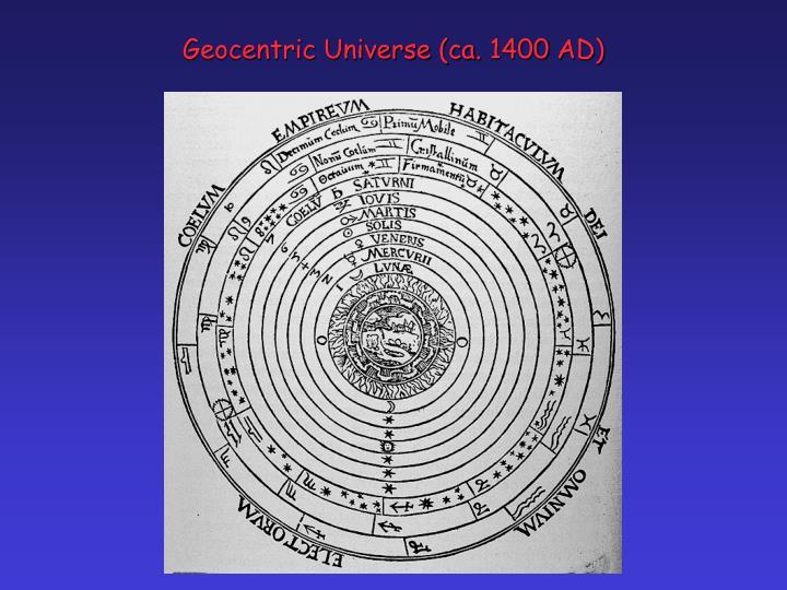Geocentric Universe (ca. 1400 AD)