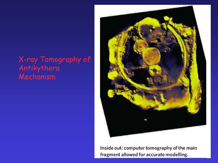 X-ray Tomography of