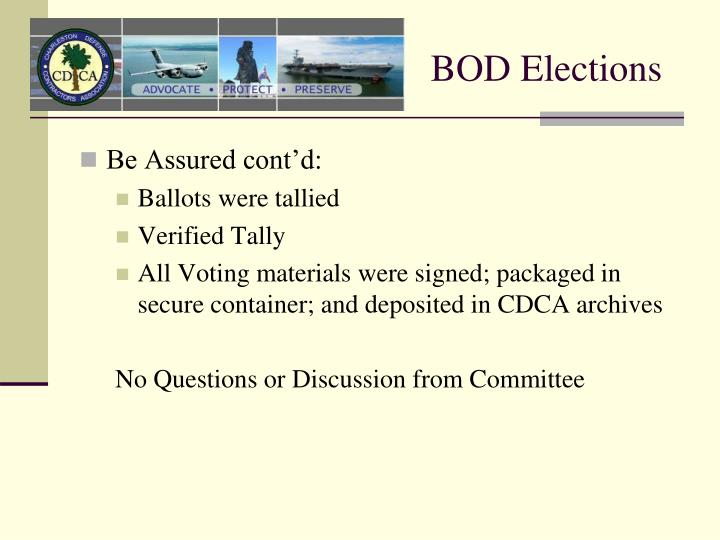 BOD Elections