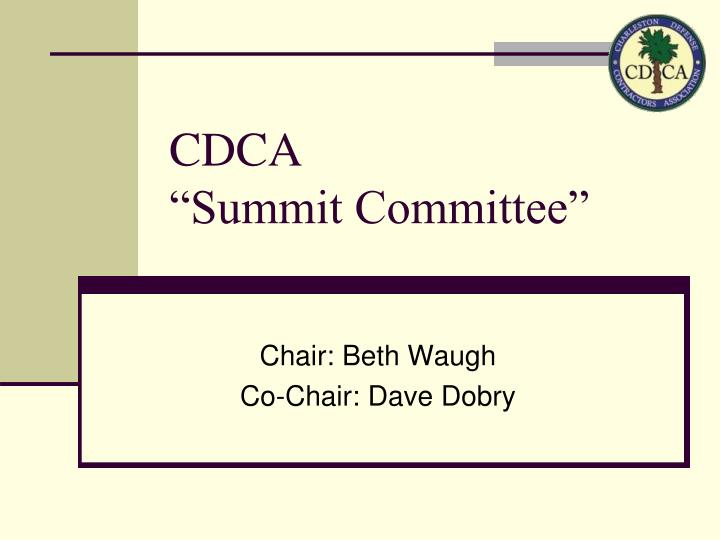 Cdca summit committee