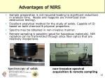 advantages of nirs