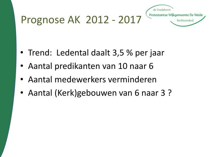 Prognose AK  2012 - 2017