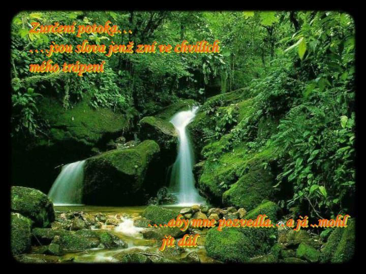 Zurčení potoka…