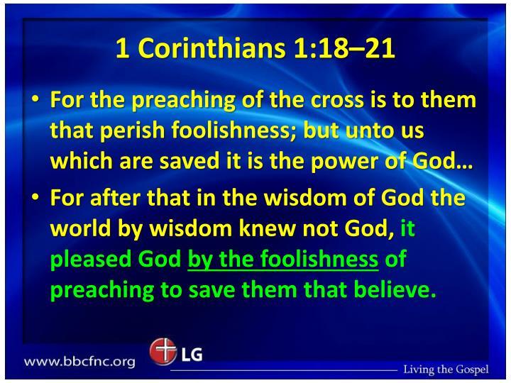 1 Corinthians 1:18–21