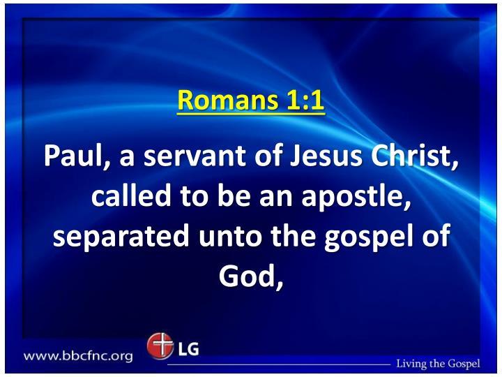 Romans 1 1