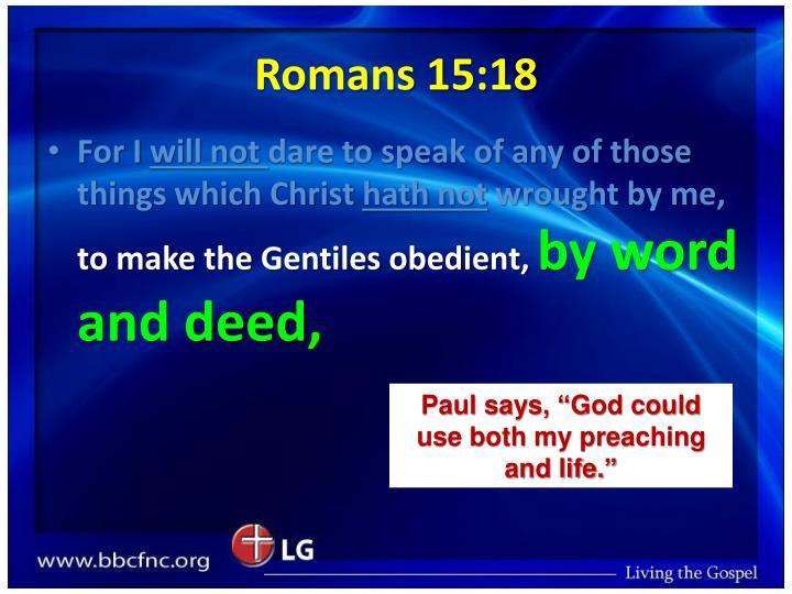 Romans 15:18