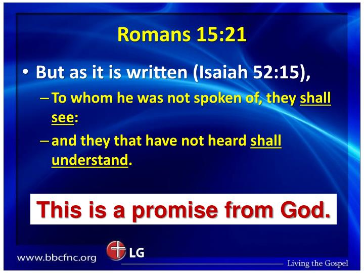 Romans 15:21