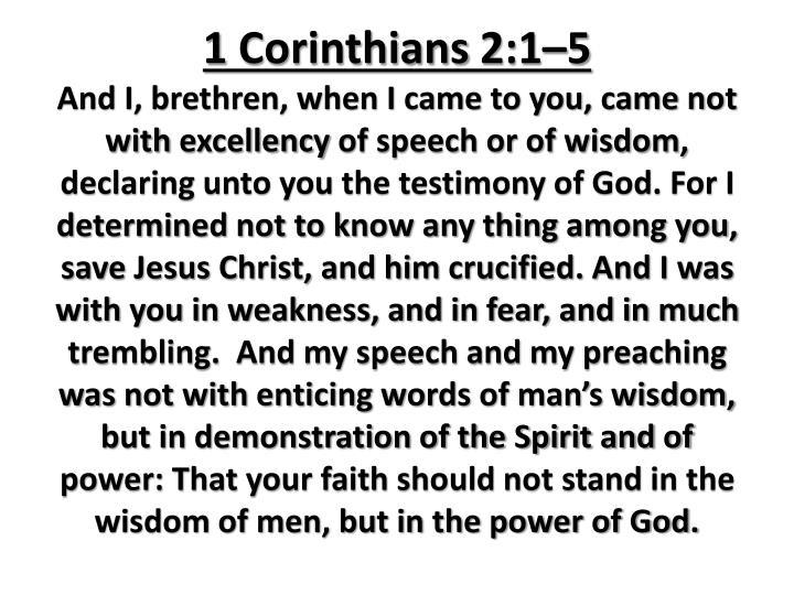 1 Corinthians 2:1–5