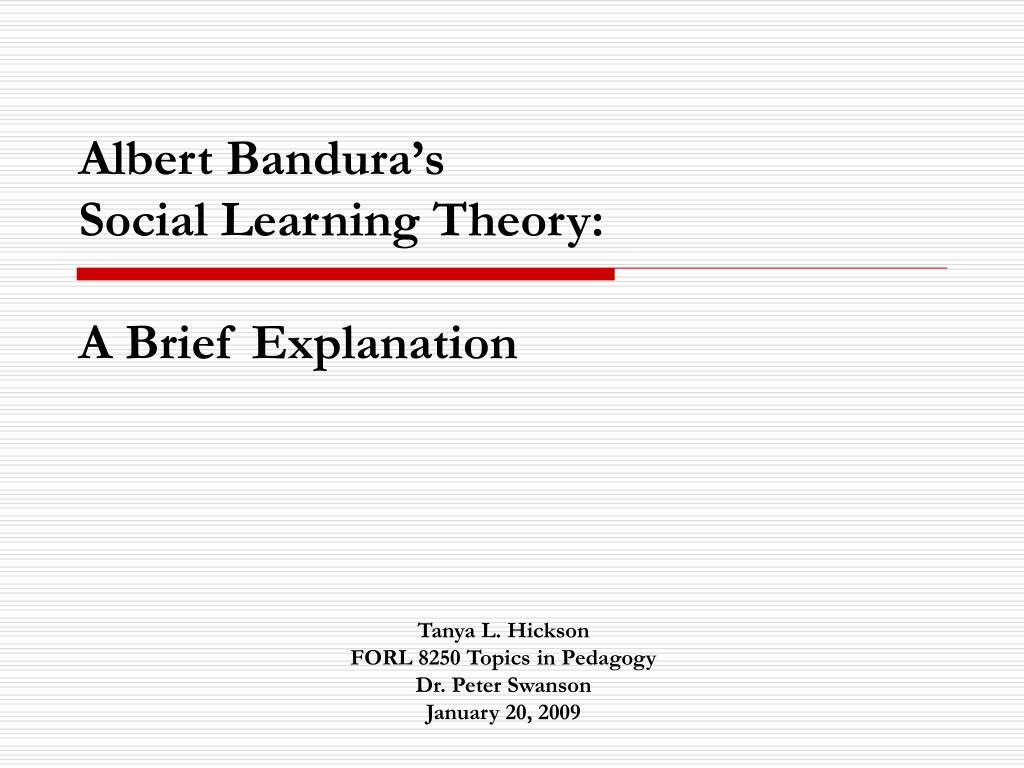 bandura theory