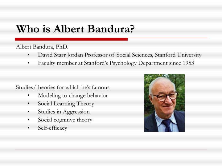 Who is albert bandura