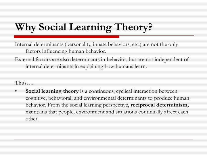 Why social learning theory