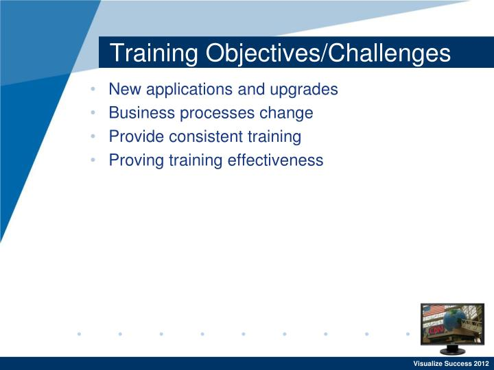 Training objectives challenges