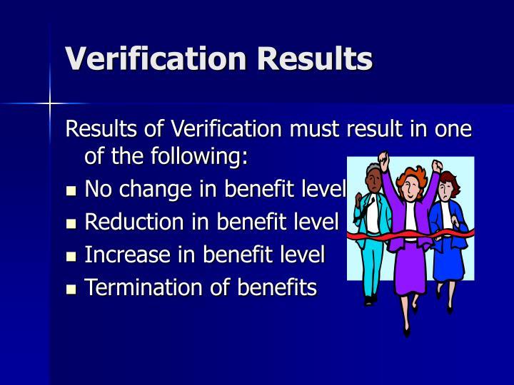 Verification Results