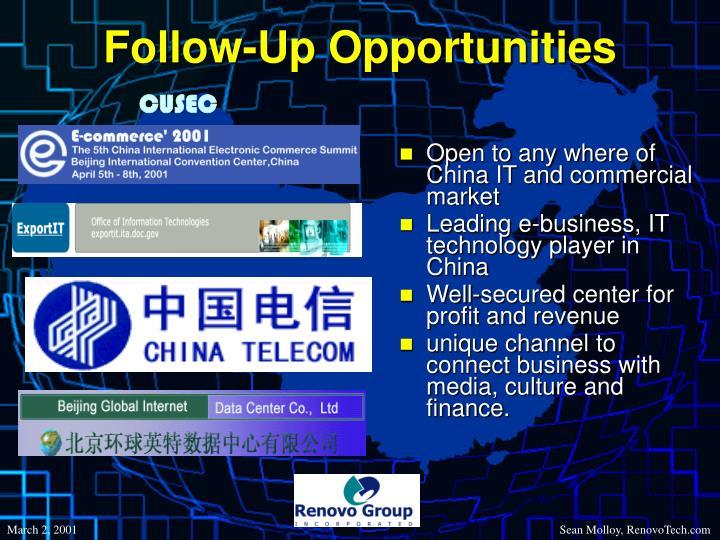 Follow-Up Opportunities