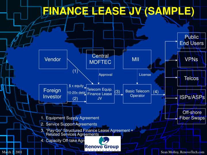FINANCE LEASE JV (SAMPLE)