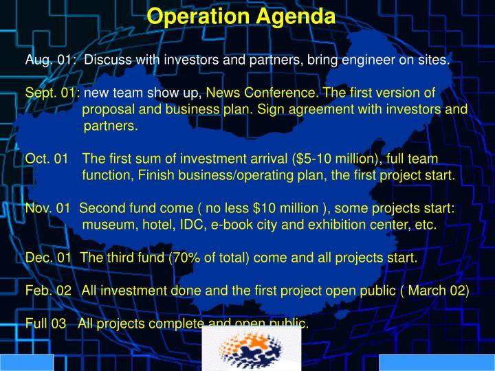 Operation Agenda