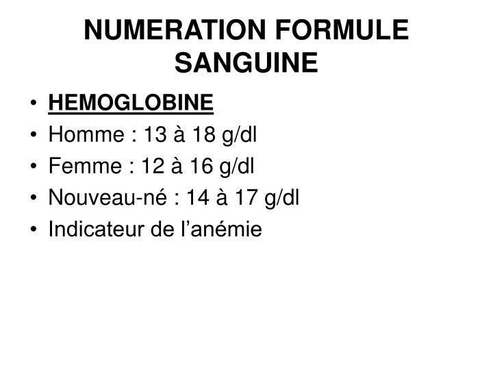 ppt numeration formule sanguine powerpoint presentation id 3002234. Black Bedroom Furniture Sets. Home Design Ideas