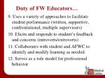 duty of fw educators1
