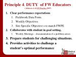 principle 4 duty of fw educators johnson et al ot practice 2007