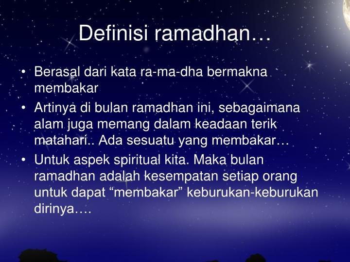Ppt Definisi Ramadhan Powerpoint Presentation Free Download
