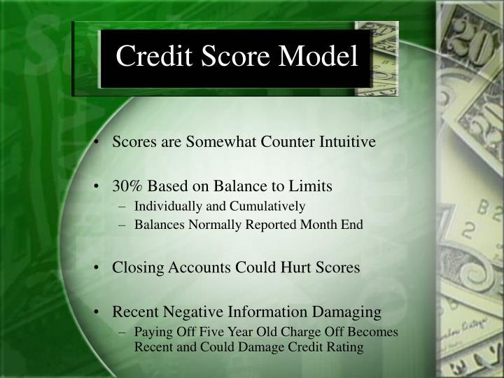 Credit score model
