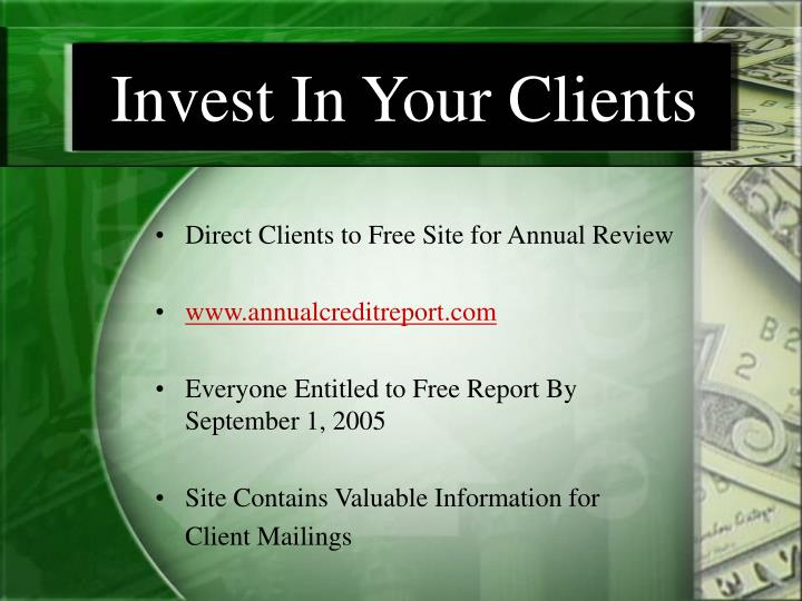 Invest In Your Clients