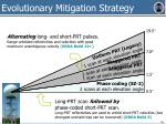 evolutionary mitigation strategy