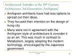architectural attitudes in the 20 th century architecture 3rd generation archigram