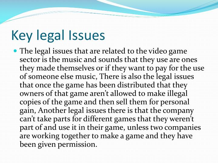 Key legal issues