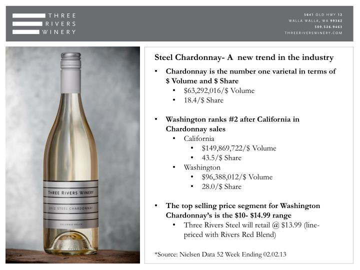 Steel Chardonnay- A  new trend in the industry